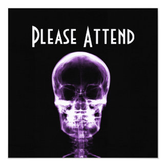 X-RAY VISION SKELETON SKULL - PURPLE PERSONALIZED ANNOUNCEMENT