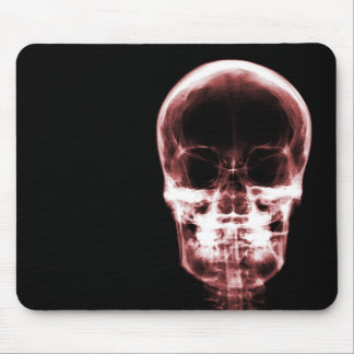 X-RAY VISION SKELETON SKULL - Red Mouse Pad