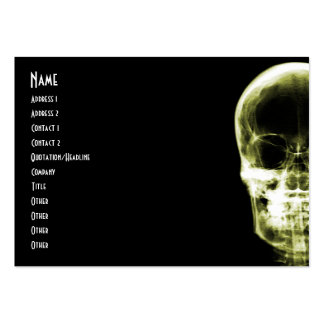 X-RAY VISION SKELETON SKULL - YELLOW PACK OF CHUBBY BUSINESS CARDS