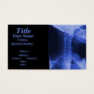 X-rayed 2 - Electromagnetic Blue Business Card