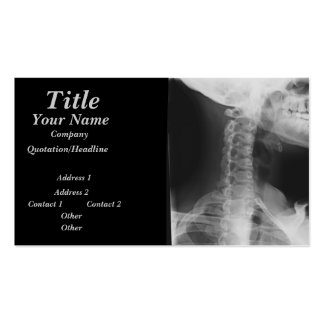 X-rayed 2 pack of standard business cards
