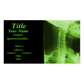 X-rayed 2 - Radioactive Green Pack Of Standard Business Cards
