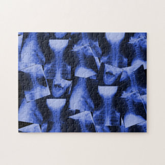 X-Rayed Electromagnetic Blue Jigsaw Puzzle