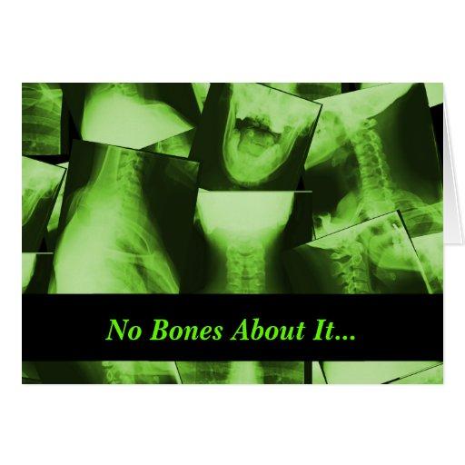 X-rayed - Radioactive Green Greeting Card