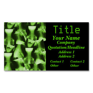X-Rayed - Radioactive Green Magnetic Business Cards
