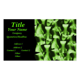 X-rayed - Radioactive Green Pack Of Standard Business Cards
