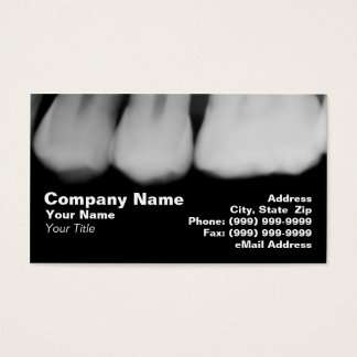 X-Rays of Teeth Business Card