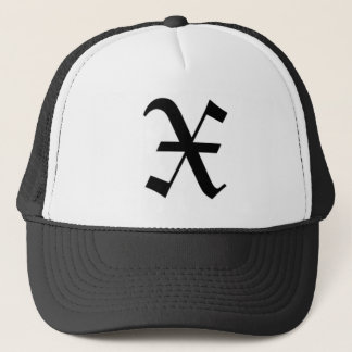 X-text Old English Trucker Hat