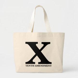 X: The Tenth Amendment Tote Bags