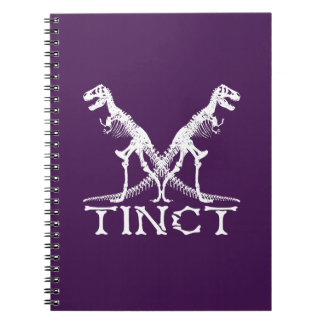 x tinct Dinosaur Skeleton Funny Spiral Notebook