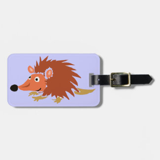 XA- Funny Hedgehog Primitive Art Cartoon Bag Tags