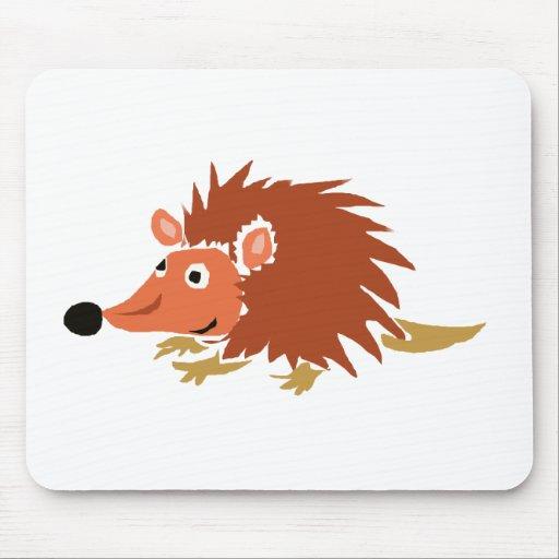 XA- Funny Hedgehog Primitive Art Cartoon Mousepad