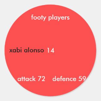 xabi alonso footy players attack - Customized Sticker