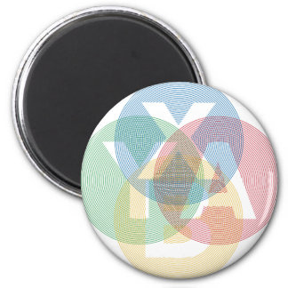 XABY Colored 6 Cm Round Magnet