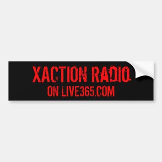 XACTION Radio Bumper Sticker