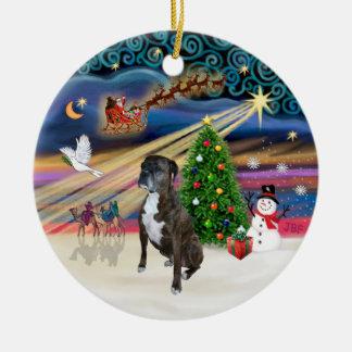 Xams Magic - Boxer (brindle 2) Christmas Ornament
