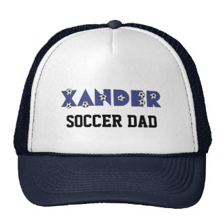 Xander in Soccer Blue Trucker Hat