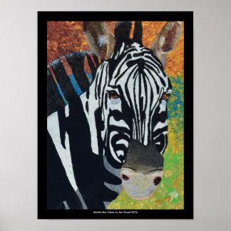Xanthe the Zebra : original art print