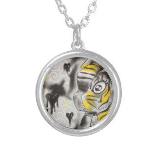 Xanthous Tiger Round Pendant Necklace