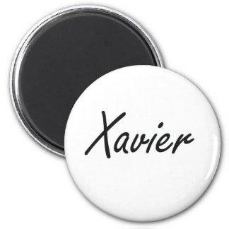 Xavier Artistic Name Design 6 Cm Round Magnet