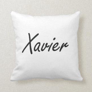 Xavier Artistic Name Design Throw Cushion