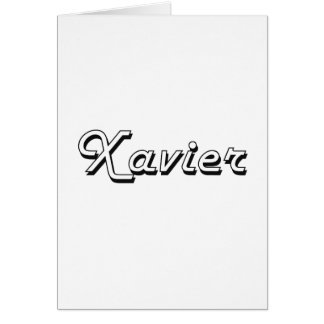 Xavier Classic Retro Name Design Greeting Card