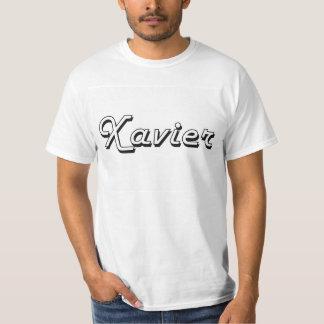 Xavier Classic Retro Name Design Tshirts