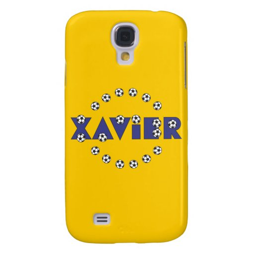 Xavier in Soccer Blue Galaxy S4 Covers