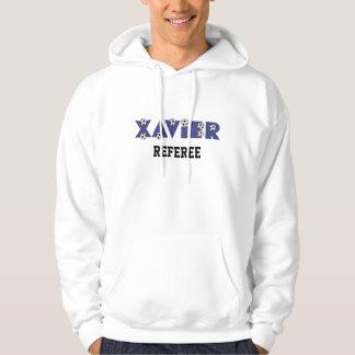 Xavier in Soccer Blue Hoodie