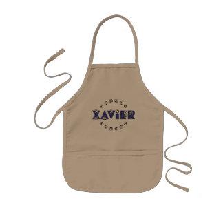 Xavier in Soccer Blue Kids Apron