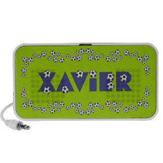 Xavier in Soccer Blue Notebook Speakers