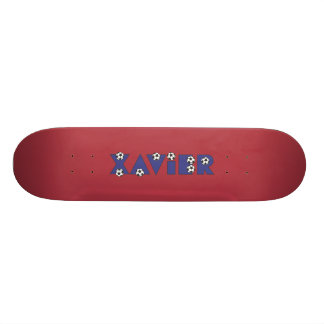 Xavier in Soccer Blue Skateboard Deck