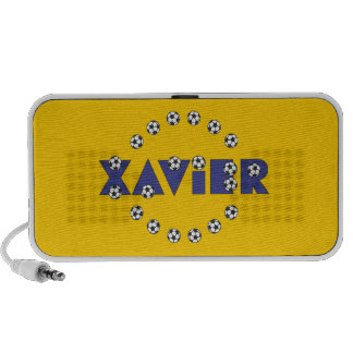 Xavier in Soccer Blue Mini Speaker