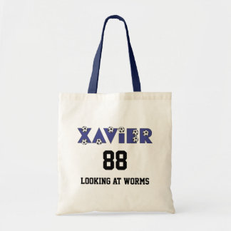 Xavier in Soccer Blue Budget Tote Bag