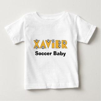 Xavier in Soccer Gold Baby T-Shirt