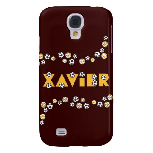 Xavier in Soccer Gold Samsung Galaxy S4 Cover