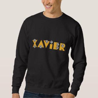 Xavier in Soccer Gold Sweatshirt