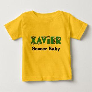 Xavier in Soccer Green Baby T-Shirt