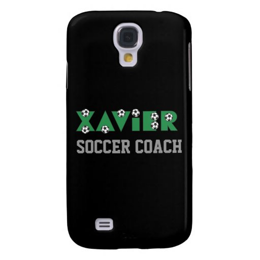 Xavier in Soccer Green Galaxy S4 Covers
