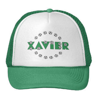 Xavier in Soccer Green Hats