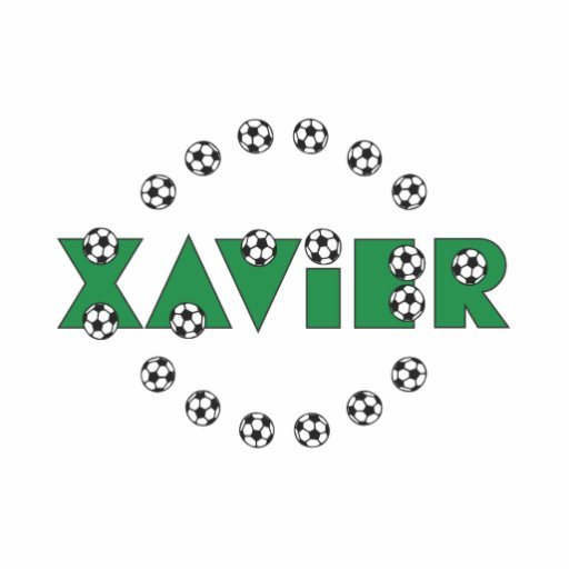 Xavier in Soccer Green Photo Cutouts