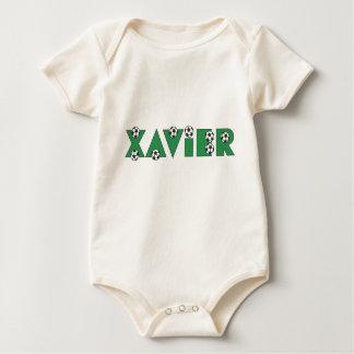 Xavier in Soccer Green Romper