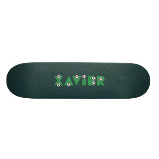Xavier in Soccer Green Skate Deck