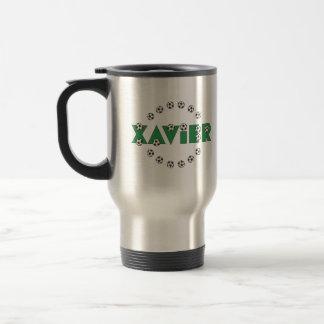 Xavier in Soccer Green Stainless Steel Travel Mug