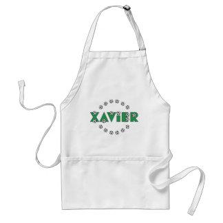 Xavier in Soccer Green Standard Apron