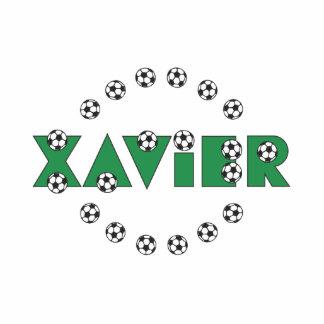 Xavier in Soccer Green Standing Photo Sculpture