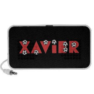 Xavier in Soccer Red Notebook Speaker