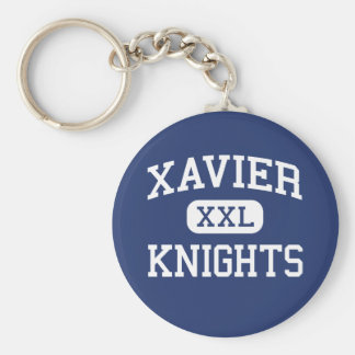 Xavier - Knights - High School - New York New York Basic Round Button Key Ring