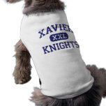 Xavier - Knights - High School - New York New York Pet Tee Shirt