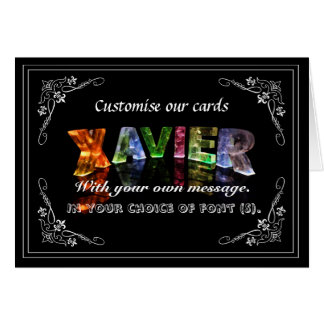 Xavier -  Name in Lights greeting card (Photo)